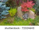 Ganesh statue in an asian garden - stock photo