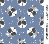 seamless pattern with cute... | Shutterstock .eps vector #723248059