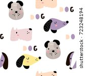 seamless childish pattern with... | Shutterstock .eps vector #723248194