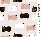 seamless childish pattern with... | Shutterstock .eps vector #723248299