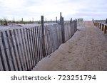 Wooden Dune Fence Walkway To...