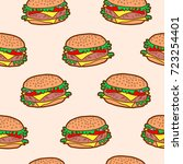 vector seamless pattern with...   Shutterstock .eps vector #723254401