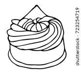 cake illustration. doodle style.... | Shutterstock . vector #723254719