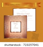 luxury bronze shiny wedding... | Shutterstock .eps vector #723257041