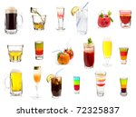 set of 18 cocktails and... | Shutterstock . vector #72325837