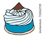 cake vector illustration.... | Shutterstock .eps vector #723262735