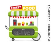 fast street food cart. colorful ... | Shutterstock .eps vector #723268471