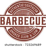 vintage barbecue bbq restaurant ... | Shutterstock .eps vector #723269689