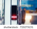 key card access control at... | Shutterstock . vector #723273151