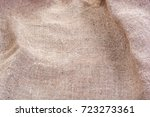 wrinkled hessian sack cloth or... | Shutterstock . vector #723273361