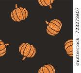 cute glitter pumpkins... | Shutterstock .eps vector #723273607