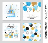 Happy Birthday Cards Set In...