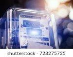 watthour meter of electricity... | Shutterstock . vector #723275725