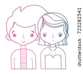 line beauty couple together... | Shutterstock .eps vector #723282541