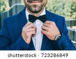 boutonniere for the groom ... | Shutterstock . vector #723286849