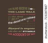 bible quote from matthew 11 ...   Shutterstock .eps vector #723287887