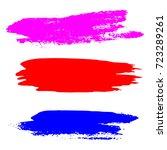 set of paint strokes. grunge... | Shutterstock .eps vector #723289261