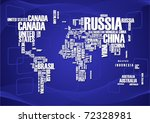 world map  countries in... | Shutterstock .eps vector #72328981