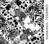 seamless pattern patchwork... | Shutterstock . vector #723289825