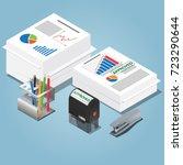 bureaucracy concept. isometric... | Shutterstock .eps vector #723290644