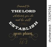 bible quote from proverbs  god... | Shutterstock .eps vector #723292561