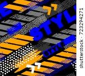 abstract seamless grunge... | Shutterstock .eps vector #723294271