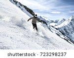 winter skier  | Shutterstock . vector #723298237