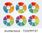 set of infographic circles.... | Shutterstock .eps vector #723299737
