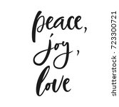 peace  joy  love. hand... | Shutterstock .eps vector #723300721
