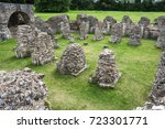 Stock photo canterbury kent uk crypt ruins part of st augustine s abbey a unesco world heritage site 723301771