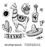 Set Of Mexican Objects  Sun ...