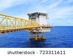 the bridge to living quarter... | Shutterstock . vector #723311611