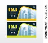 sale banner. facebook post.... | Shutterstock .eps vector #723312421