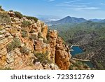 Small photo of Geological formation of the Organos de Benitandus. Valencian Community. Europe