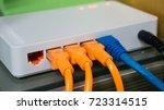 switch hub for lan system | Shutterstock . vector #723314515