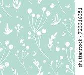 trendy vector seamless pattern... | Shutterstock .eps vector #723316351