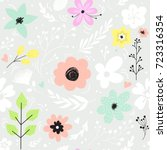 seamless pattern with pastel... | Shutterstock .eps vector #723316354