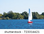 sailing on moscow river | Shutterstock . vector #723316621