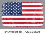 grunge american flag.vector... | Shutterstock .eps vector #723326605