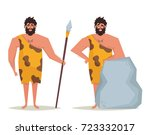 cute cartoon character  caveman.... | Shutterstock .eps vector #723332017