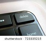 delete key on keyboard. black... | Shutterstock . vector #723335215