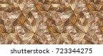 wood design 3d panels. material ... | Shutterstock . vector #723344275