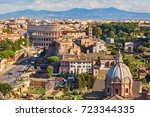 aerial scenic view of colosseum ... | Shutterstock . vector #723344335