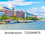 view of a marina in the... | Shutterstock . vector #723344875