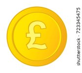 vector british pound sterling... | Shutterstock .eps vector #723345475