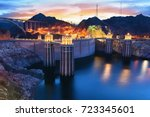 Evening View Of The Hoover Dam...