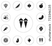 set of 12 editable berry icons. ...