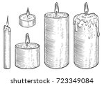 Candle Illustration  Drawing ...