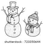 Snowman Illustration  Drawing ...