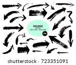 set of different grunge brush... | Shutterstock .eps vector #723351091